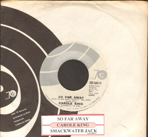 King, Carole - So Far Away/Smackwater Jack (with juke box label and Ode company sleeve) - NM9/ - 45 rpm Records