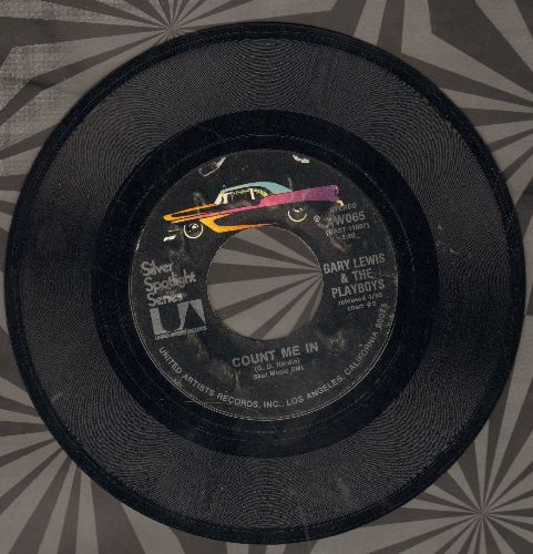 Lewis, Gary & The Playboys - Count Me In/Save Your Heart For Me (double-hit re-issue) - EX8/ - 45 rpm Records