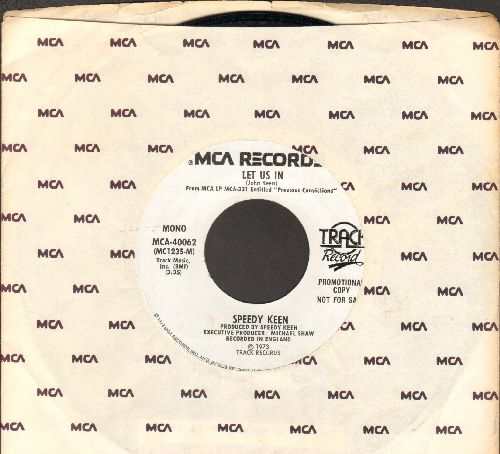 Keen, Speedy - Let Us In/Aries Lady (DJ advance pressing with MCA company sleeve) - NM9/ - 45 rpm Records
