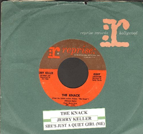 Keller, Jerry - The Knack (Theme from British Cinema-Cult-Classic -The Knack-)/She's Just A Quiet Girl (from film -The Yellow Rolls Royce-) (with vintage Reprise company sleeve and juke box label) - NM9/ - 45 rpm Records