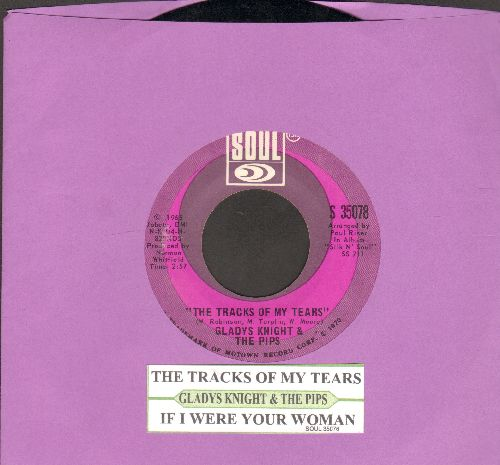 Knight, Gladys & The Pips - The Tracks Of My Tears/If I Were Your Woman (with juke box label) - EX8/ - 45 rpm Records