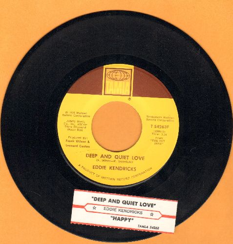 Kendricks, Eddie - Deep And Quiet Love/Happy (with juke box label) - NM9/ - 45 rpm Records