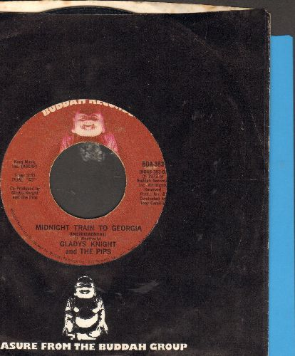 Knight, Gladys & The Pips - Midnight Train To Georgia/Window Raising Granny (with Buddah company sleeve) - VG7/ - 45 rpm Records