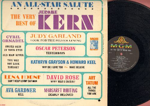 Ornandel, Judy Garland, Lena Horne, Ava Gardner, others - The Very Best Of Jerome Kern - An All-Star Salute: Smoke Gets In Your Eyes, Ol' Man River, Can't Help Lovin' Dat Man (Vinyl MONO LP record) - NM9/EX8 - LP Records