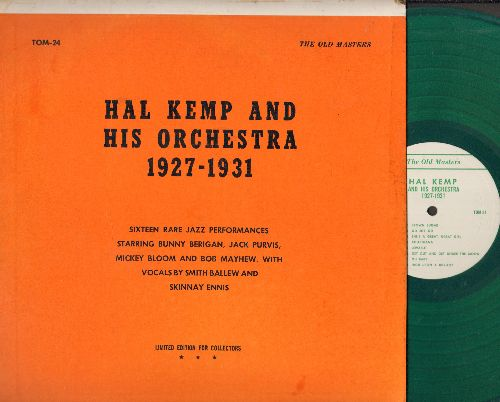 Kemp, Hal & His Orchestra - Hal Kemp and his Orchestra 1927-1931: 16 Rare Jazz Performances (GREEN Vinyl pressing, re-issue of vintage recordings) - NM9/EX8 - LP Records