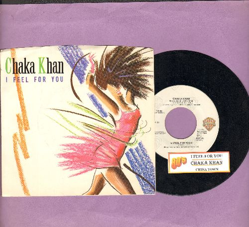 Khan, Chaka - I Feel For You/Chinatown (with picture sleeve and juke box label) - EX8/EX8 - 45 rpm Records