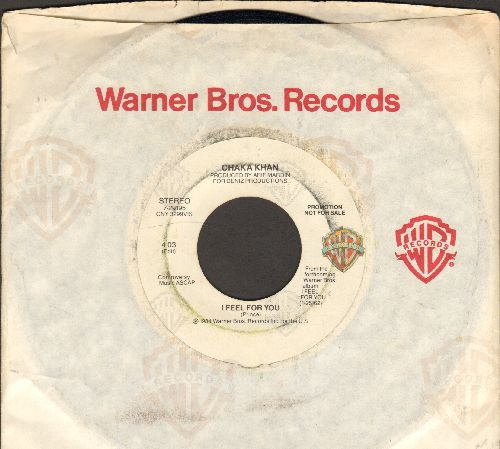 Khan, Chaka - I Feel For You (double-A-sided DJ advance pressing with Warner Brothers company sleeve) - EX8/ - 45 rpm Records