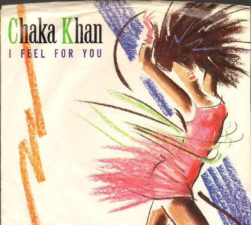 Khan, Chaka - I Feel For You (double-A-sided DJ advance pressing with picture sleeve) - NM9/VG7 - 45 rpm Records