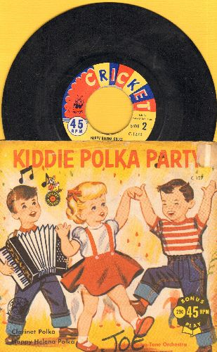 Cricket Polka-Tone Orchestra - Happy Helena Polka/Jolly Clarinet Polka (with picturew sleeve)(wol) - EX8/EX8 - 45 rpm Records