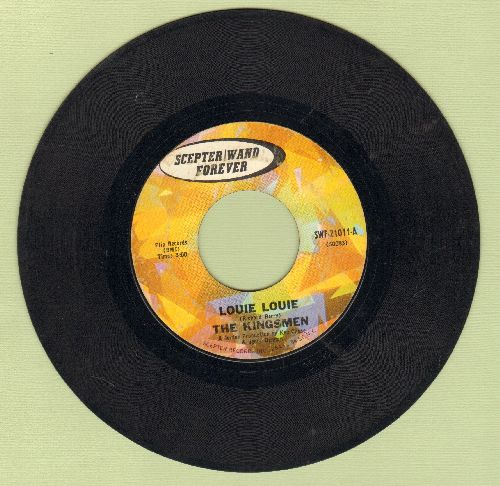 Kingsmen - Louie Louie (FRAT PARTY FAVORITE!)/Haunted Castle (early re-issue) - VG7/ - 45 rpm Records