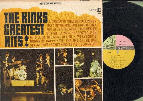 Kinks - The Kinks Greatest Hits: Tired Of Waiting For You, All Day And All Through The Night, You Really Got Me (vinyl STEREO LP record) - VG7/VG7 - LP Records