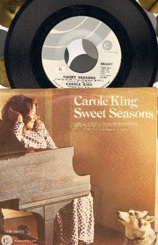 King, Carole - Sweet Seasons/Pocket Money (with picture sleeve) - NM9/EX8 - 45 rpm Records