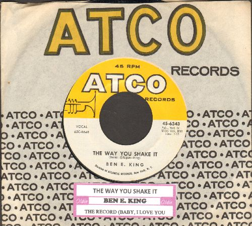 King, Ben E. - The Way You Shake It/The Record (Baby, I Love You) (with juke box label and company sleeve) - NM9/ - 45 rpm Records