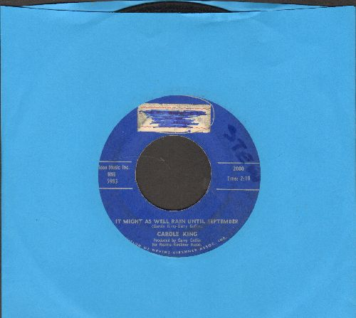 King, Carole - It Might As Well Rain Until September/Nobody's Perfect (sol) - VG6/ - 45 rpm Records