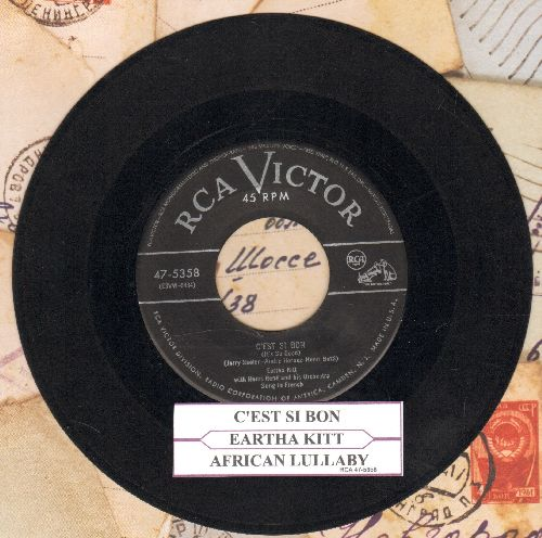 Kitt, Eartha - C'est Si Bon/African Lullaby (with juke box label - EX8/ - 45 rpm Records