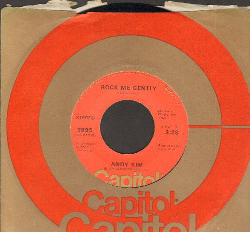 Kim, Andy - Rock Me Gently/Rock Me Gently (Part II) (with Capitol company sleeve) - EX8/ - 45 rpm Records
