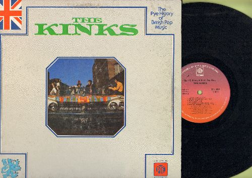 Kinks - The Pye History Of British Pop Music - The Kinks: You Really Got Me, Sunny Afternoon, Long Tall Shorty, Set Me Free (vinyl STEREO LP record, gate-fold cover) - NM9/EX8 - LP Records