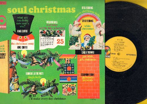 Carter, Clarence, Carla Thomas, Otis Redding - Soul Christmas: Back Door Santa, White Christmas, Jingle Bells, Gee Whiz It's Christmas, The Christmas Song (vinyl STEREO LP record, 1968 first pressing) - NM9/EX8 - LP Records