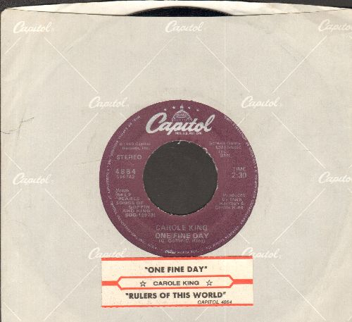 King, Carole - One Fine Day/Rulers Of This World (with juke box label and Capitol company sleeve) - EX8/ - 45 rpm Records