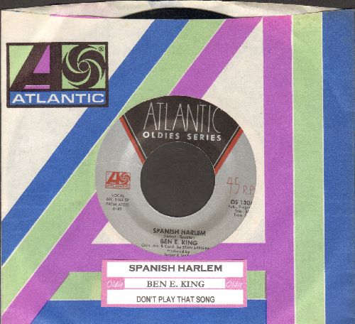 King, Ben E. - Don't Play That Song (You Lied)/Spanish Harlem (double-hit re-issue with Atlantic company sleeve) - NM9/ - 45 rpm Records