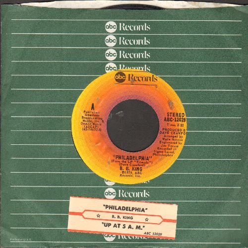 King, B. B. - Philadelphia/Up At 5 AM (with juke box label and ABC company sleeve) - EX8/ - 45 rpm Records