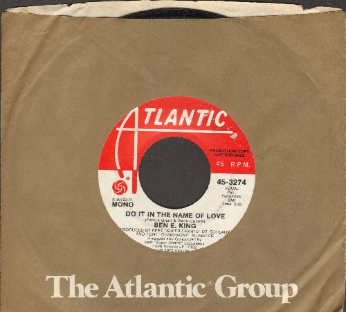 King, Ben E. - Souvenirs Do It In The Name Of Love (double-A-sided DJ advance pressing with Atlantic company sleeve) - EX8/ - 45 rpm Records