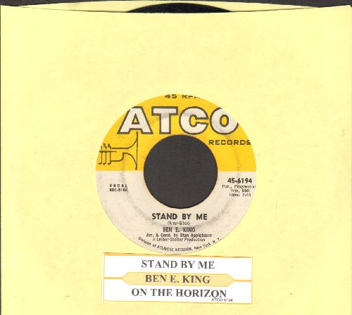 King, Ben E. - Stand By Me/Yakety Yak (by The Coasters on flip-side) (both songs from the Soundtrack of film Stand By Me, with juke box label and picture sleeve) - VG7/ - 45 rpm Records