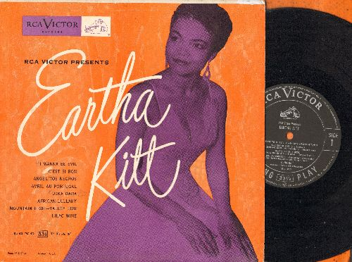 Kitt, Eartha - Eartha Kitt: I Wanna Be Evil, C'est Si Bon, Uska Dara, African Lullaby (10 inch vinyl LP record with picture cover, NICE condition!) - NM9/EX8 - LP Records