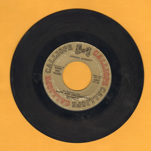 Kimberly, Adrian - Pomp And Circumstance (The Graduation Song, featured in Award Winning BBC Series -Upstairs Downstairs-)/Black Mountain Stomp - VG7/ - 45 rpm Records
