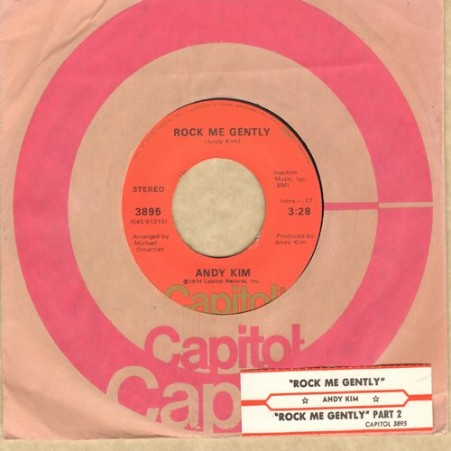 Kim, Andy - Rock Me Gently/Rock Me Gently (Part II) - NM9/ - 45 rpm Records