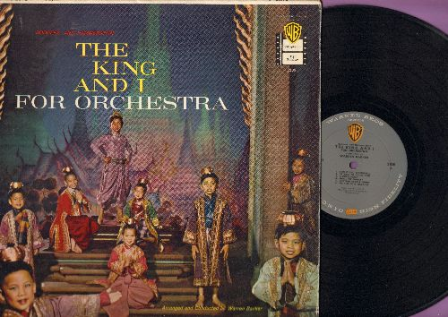 The King And I - The King And I For Orchestra, arranged and conducted by Warren Baker (Vinyl MONO LP record, RARE 1958 first pressing) - EX8/EX8 - LP Records