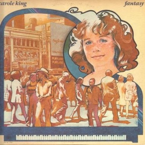 King, Carole - Fantasy: You Light Up My Life, You're Been Around Too Long, A Quiet Place To Live, Welfare Symphony, Believe In Humanity (Vinyl STEREO LP record) - NM9/EX8 - LP Records