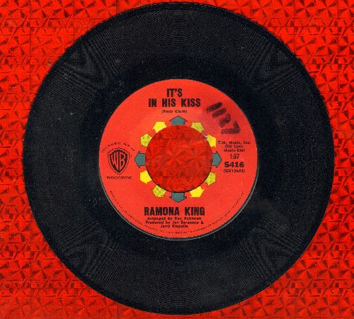 King, Ramona - It's In His Kiss/It Couldn't Happen To A Nicer Guy (MINT condition vinyl, minor wol) - EX8/ - 45 rpm Records