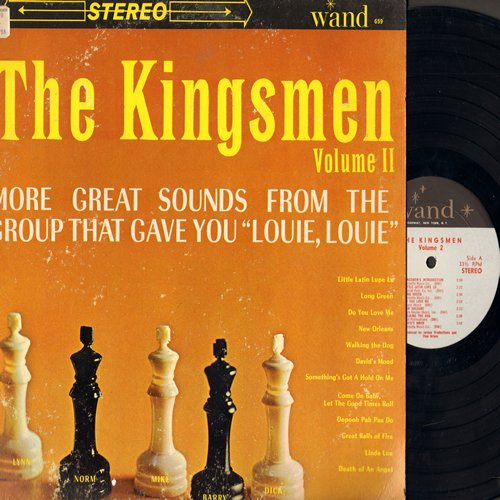 Kingsmen - The Kingsmen Volume 2: Do You Love Me, Linda Lou, Great Balls Of Fire, Death Of An Angel, Little Latin Lupe Lu (Vinyl STEREO LP record) - NM9/VG7 - LP Records
