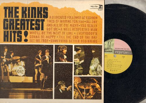Kinks - The Kinks Greatest Hits: Tired Of Waiting For You, All Day And All Through The Night, You Really Got Me (vinyl MONO LP record) - EX8/EX8 - LP Records