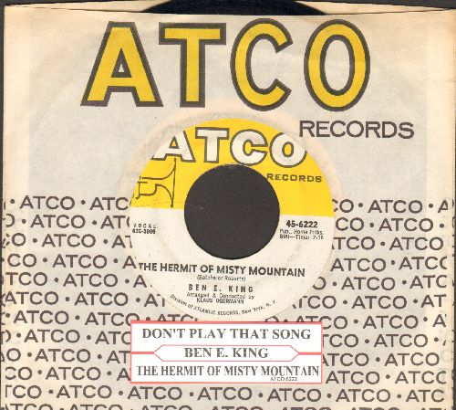 King, Ben E. - The Hermit Of Misty Mountain (FANTASTIC flip-side!)/Don't Play That Song (with juke box label and vintage Atco company sleeve)(sol) - EX8/ - 45 rpm Records