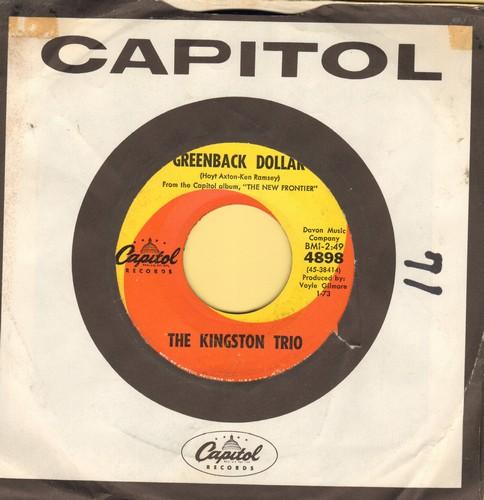 Kingston Trio - Greenback Dollar/Reverend Mr. Black (with company sleeve) - EX8/ - 45 rpm Records