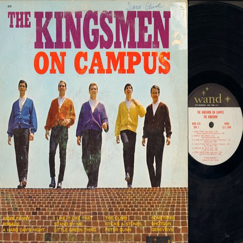 Kingsmen - The Kingsmen On Campus: Annie Fanny, Rosalie, Stand By Me, Peter Gunn, Shotgun, A Hard Day's Night (vinyl MONO LP record) - VG7/VG6 - LP Records