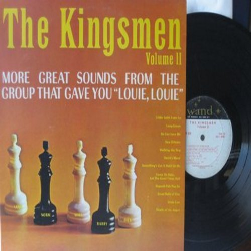 Kingsmen - The Kingsmen Volume 2: Do You Love Me, Linda Lou, Great Balls Of Fire, Death Of An Angel, Little Latin Lupe Lu (vinyl LP record) - VG7/EX8 - LP Records