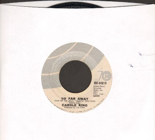 King, Carole - So Far Away/Smackwater Jack (with picture sleeve) - EX8/VG7 - 45 rpm Records