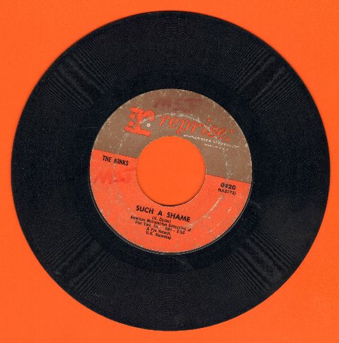 Kinks - Such A Shame/A Well Respected Man (minor wol) - VG7/ - 45 rpm Records