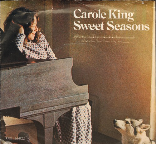 King, Carole - Sweet Seasons/Pocket Money (with picture sleeve) - EX8/VG7 - 45 rpm Records