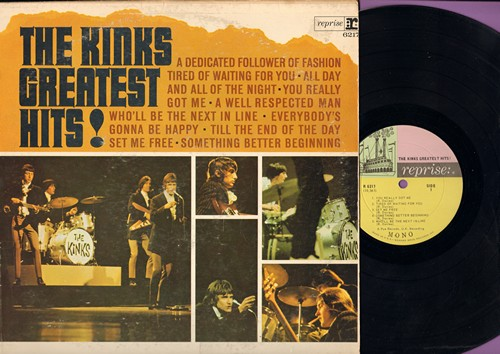 Kinks - Greatest Hits: You Really Got Me, Tired Of Waiting For You, All Day And All Through The Night (Vinyl MONO LP record) - EX8/VG7 - LP Records