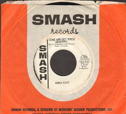 King, Anna - If Somebody Told You/Come And Get These Memories (DJ advance pressing with vintage Smash company sleeve) - VG7/ - 45 rpm Records