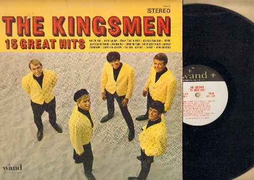 Kingsmen - 15 Great Hits: Killer Joe, Good Lovin', Fever, Satisfaction, Twist & Shout, Do You Love Me, Shout, Quarter To Three, Money (Vinyl STEREO LP record) - EX8/EX8 - LP Records