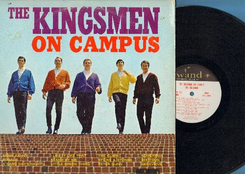Kingsmen - The Kingsmen On Campus: Annie Fanny, Rosalie, Stand By Me, Peter Gunn, Shotgun, A Hard Day's Night (Vinyl MONO LP record) - NM9/VG7 - LP Records