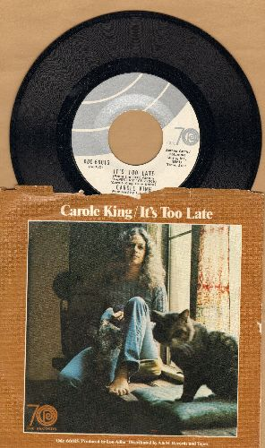 King, Carole - It's Too Late/I Feel The Earth Move (with picture sleeve) - NM9/EX8 - 45 rpm Records