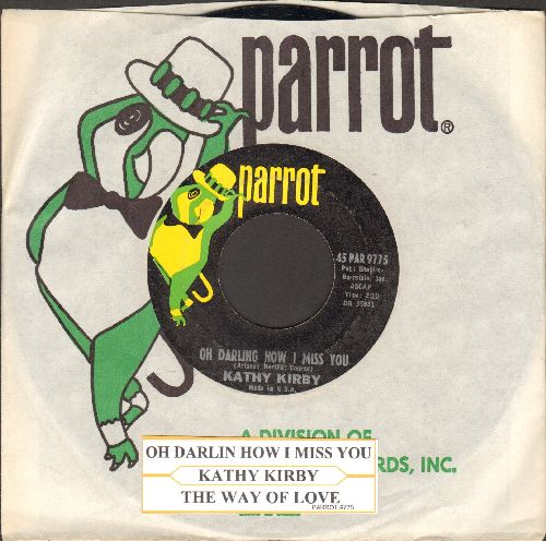 Kirby, Kathy - Oh Darling How I Miss You/The Way Of Love (with company sleeve and juke box label) - NM9/ - 45 rpm Records