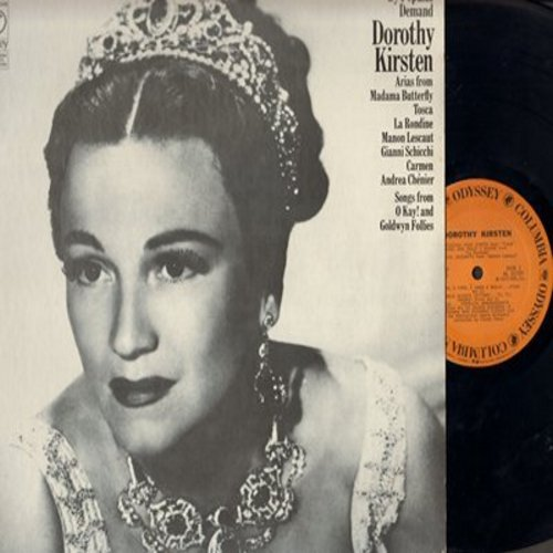 Kirsten, Dorothy - By Popular Demand - Arias From Madama Butterfly, Tosca, Carmen, La Rondine (Vinyl MONO LP record) - M10/NM9 - LP Records