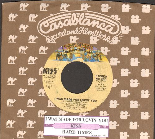 KISS - I Was Made For Lovin' You/Hard Times (with Casablanca company sleeve and juke box label) - EX8/ - 45 rpm Records